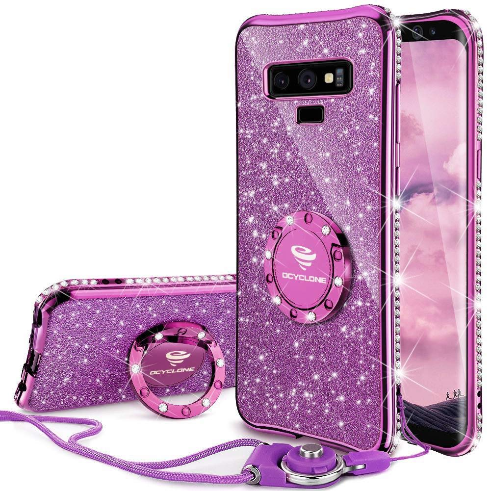 Funda Para Galaxy Note 9 Con Pie Glitter