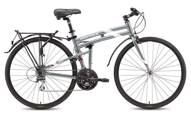 New 2016 Montague Urban Folding 700c Pavement Hybrid Bike Smoke Silver 19 by Montague B018ZMF84W