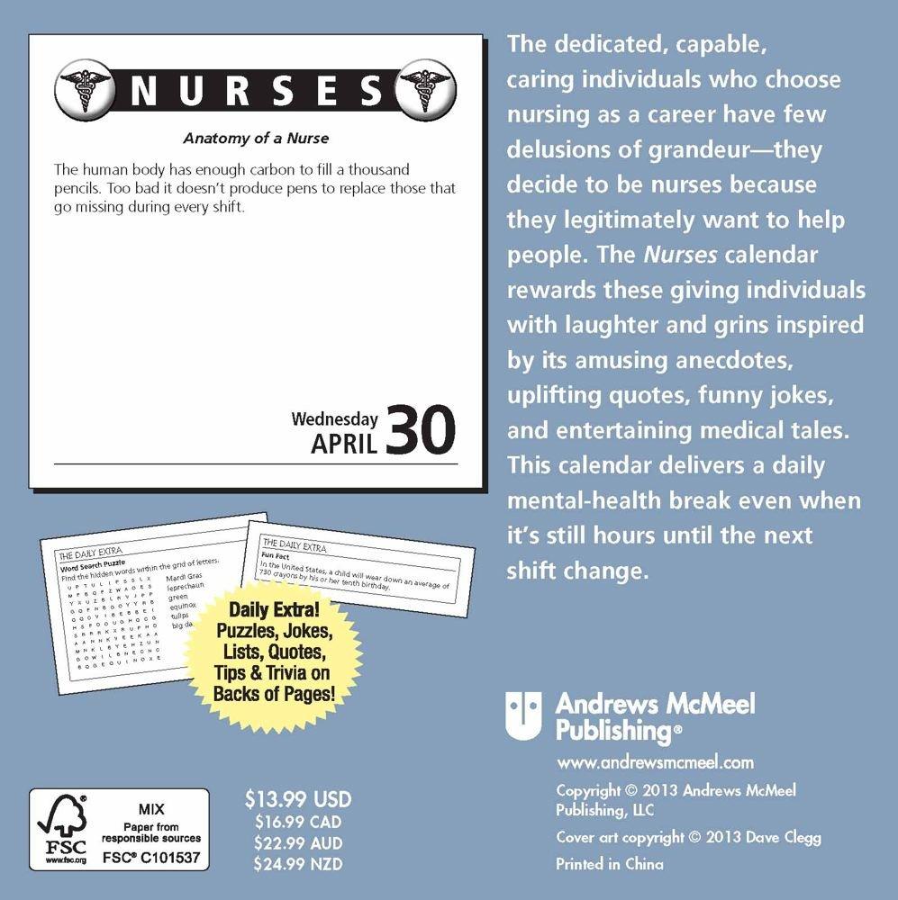 Nurses 2014 Day-to-Day Calendar: Jokes, Quotes, and Anecdotes: LLC ...