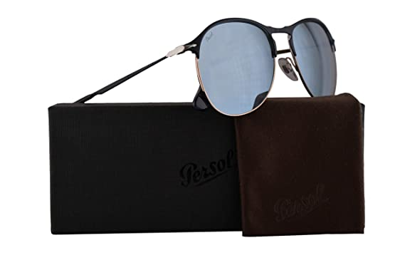 f472393026e6c Image Unavailable. Image not available for. Color  Persol PO7649S Sunglasses  Blue Bronze w Light Green Mirror Silver Lens 56mm 107330 PO 7649