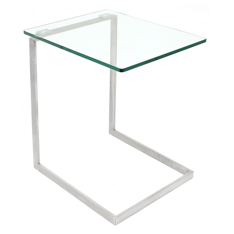 Amazon LumiSource Zenn Glass End Table Kitchen & Dining