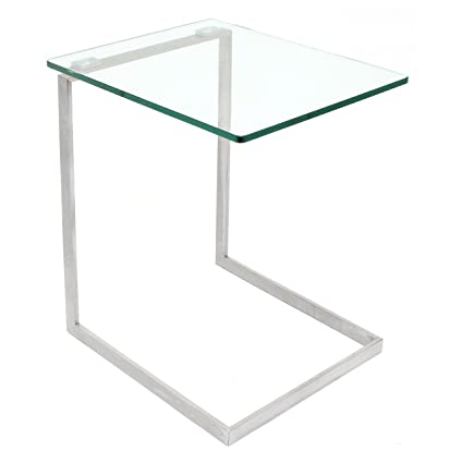 Attrayant LumiSource Zenn Glass End Table
