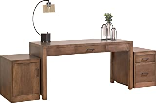 """product image for DutchCrafters Amish Solid Wood 60"""" Writing Desk with Pencil Drawer with Rolling File Drawer Cabinet and Rolling Storage Cabinet Made in America"""