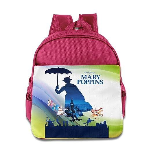 Mary Poppins Parrot Umbrella Julie Andrews Logo Kids School Pink Backpack Bag