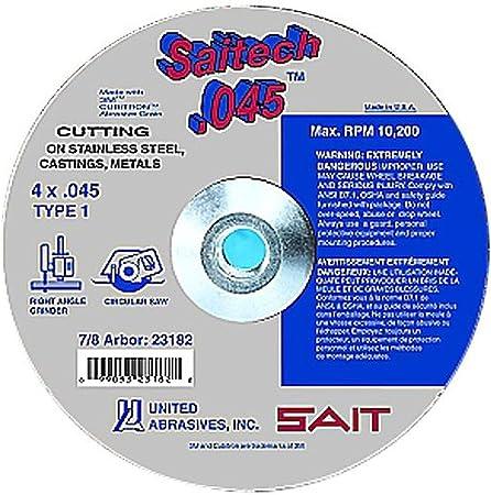 United Abrasives-SAIT 71060 2A Flap Wheel 60X 3 x 1//2 x 1//4-20 10-Pack