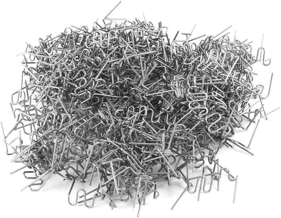 0.6mm M staples KKmoon Universal 100 Pcs//Set Precut 0.6mm-0.8mm Hot Wave Flat Staples For Plastic Stapler Repair Welder repair tool