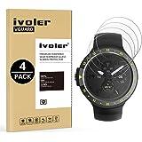 iVoler [4 Pack] Pellicola Vetro Temperato Ticwatch E/Ticwatch S Smartwatch [Garanzia a Vita], Pellicola Protettiva, Protezione per Schermo
