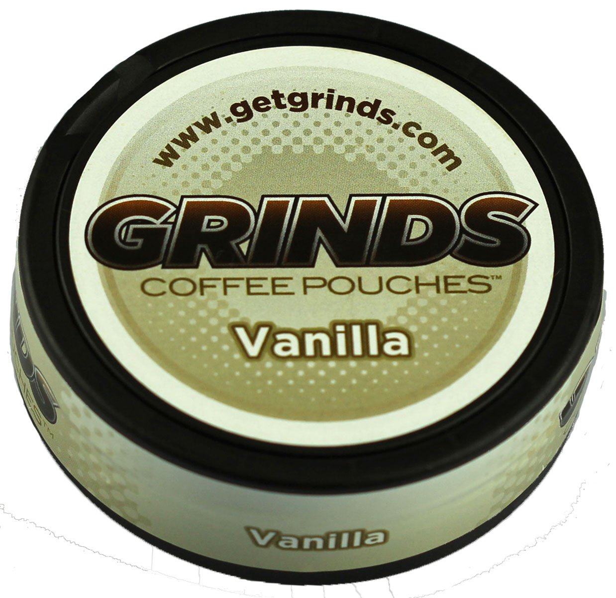 Grinds Coffee Pouches - 3 Cans - Vanilla - Tobacco Free, Nicotine Free Healthy Alternative