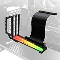 EZDIY-FAB Vertical Graphics Card Holder Bracket with ARGB 5V 3Pin LED,GPU Mount,Video Card VGA Support Kit with PCIE3.0…
