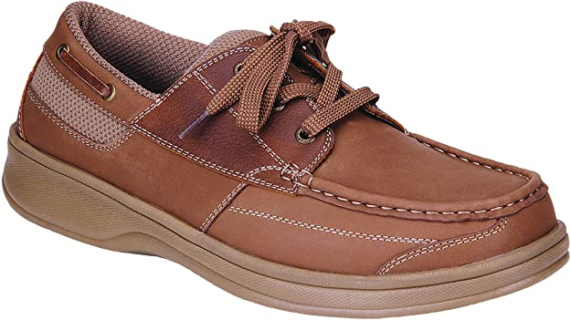 7. Orthofeet Proven Foot and Heel Pain Relief Men's Boat Shoes