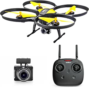 Altair 818 Hornet Beginner Drone with Camera | Free Priority Shipping | Live Video Drone for Kids & Adults, 15 Min Flight Time, Altitude Hold, Personal Hobby Starter RC Quadcopter for All Ages (Yellow 818 Hornet)