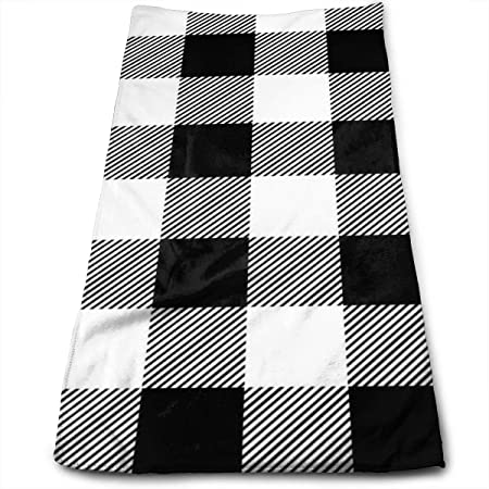 Have You Shop 1 Black and White Plaid_56171 Microfiber Bath ...