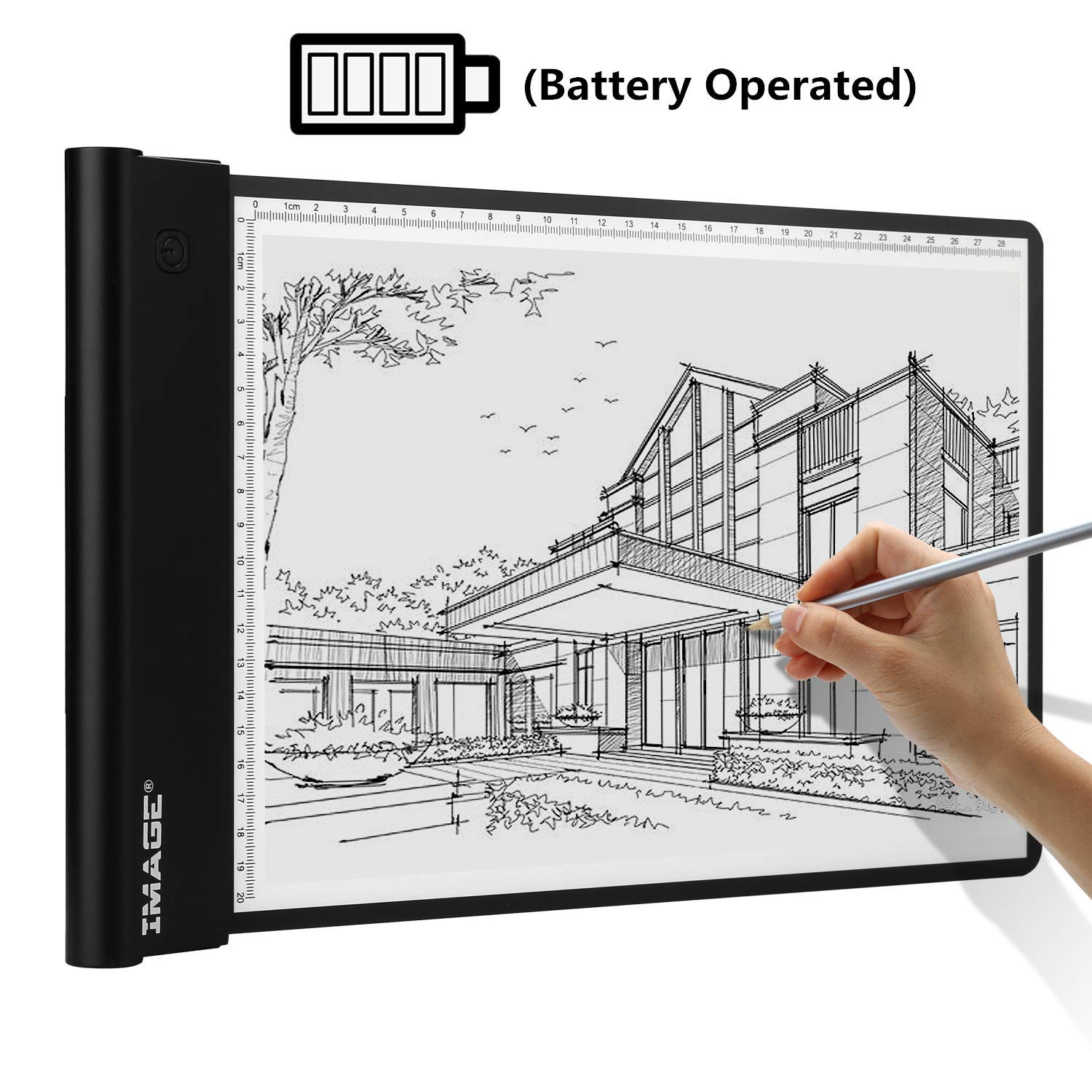A4 Light Box Wireless Artcraft Tracing Pad Battery Operated Ultra-Thin Light Pad Physical Button Control Brightness Dimmable with Memory Function for Tatoo Drawing Sketching Designing Painting by IMAGE