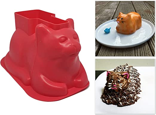 Amazon.com: Mini Cat Shaped Cake Molds (4 Pack, Silicone) - For ...