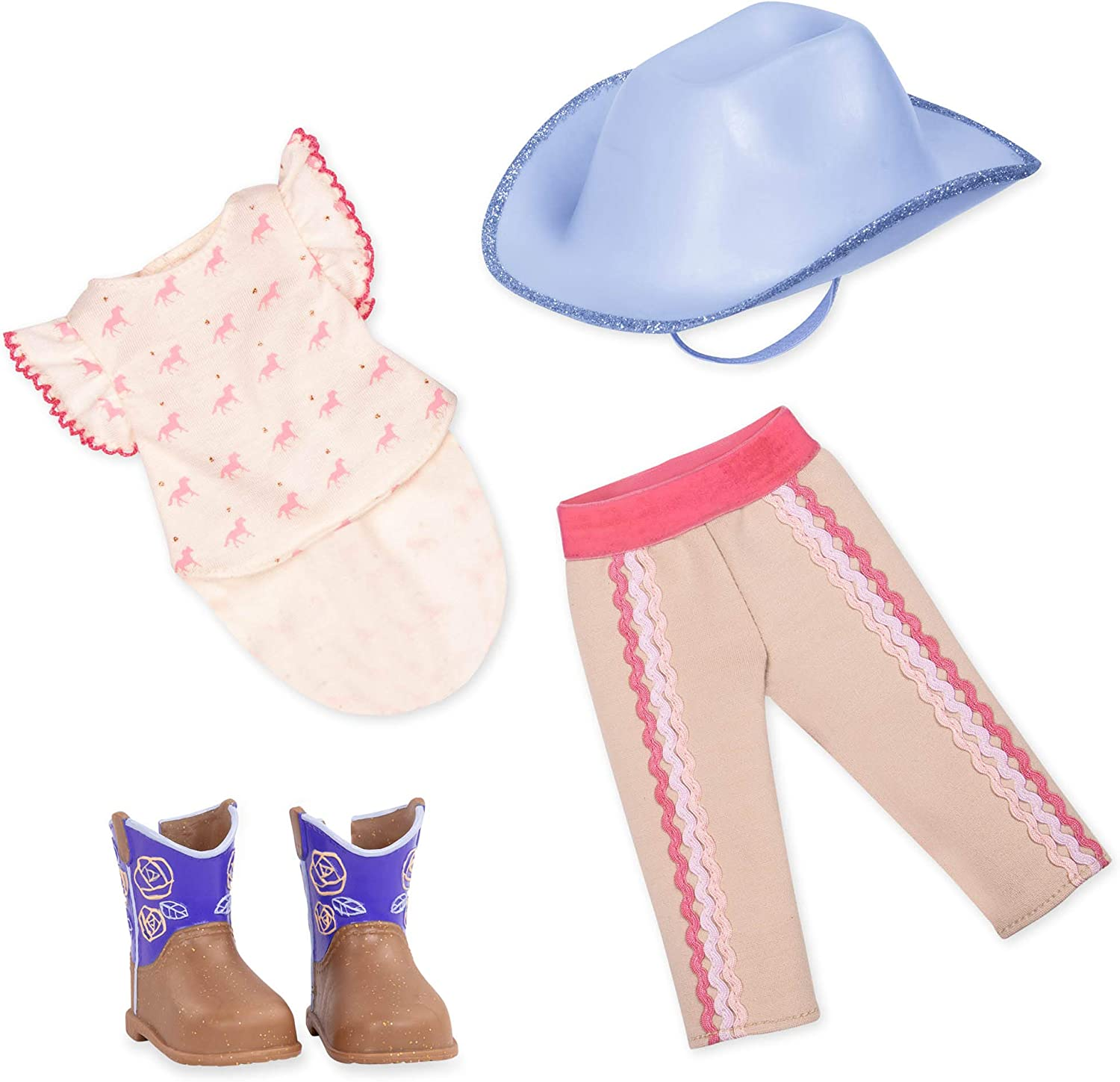 """Glitter Girls by Battat - Riding at Its Best! Equestrian Outfit -14"""" Doll Clothes– Toys, Clothes & Accessories for Girls 3-Year-Old & Up"""