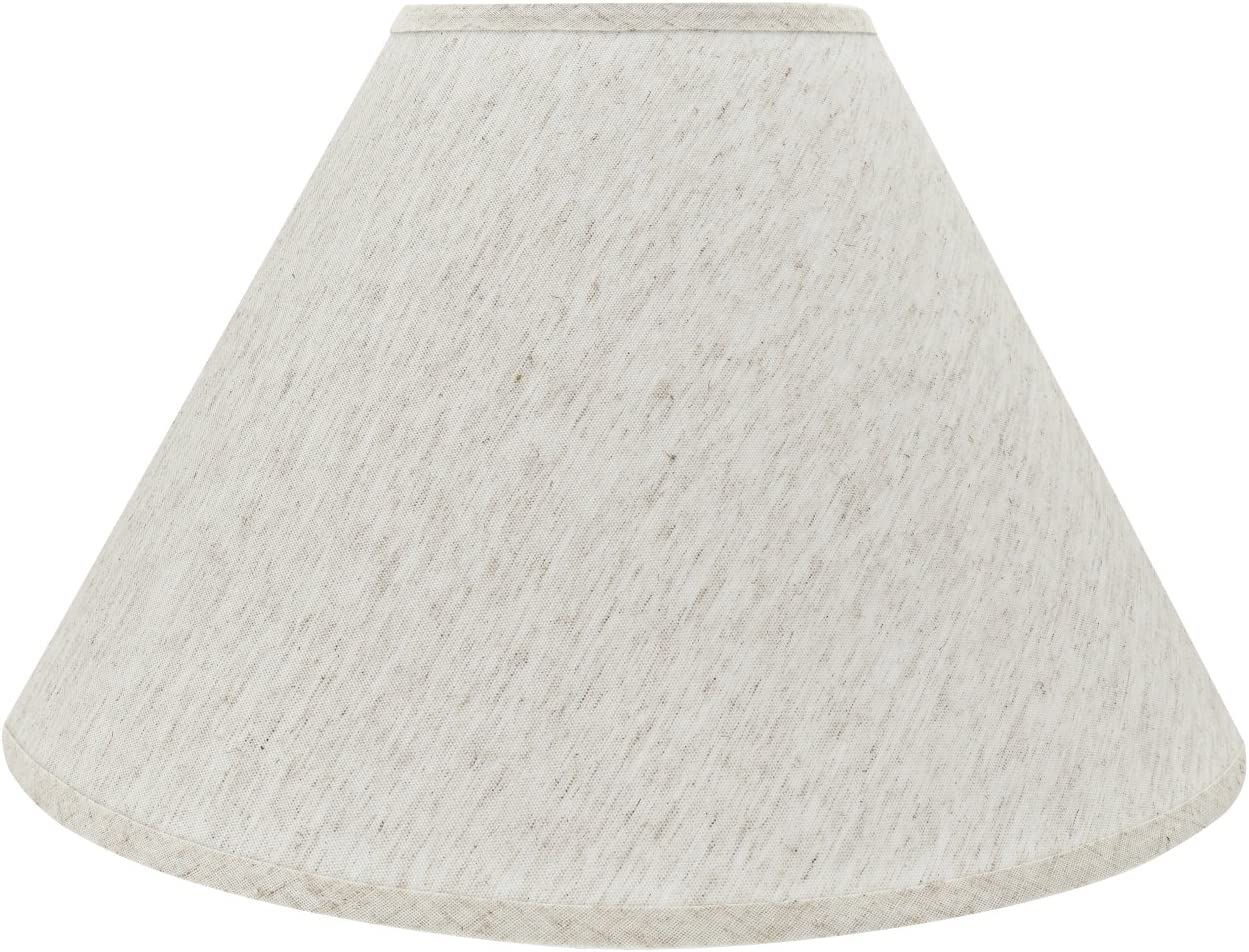 """Aspen Creative 32772 Transitional Hardback Empire Shaped Spider Construction Lamp Shade in Beige, 18"""" Wide (7"""" x 18"""" x 12 1/2"""")"""