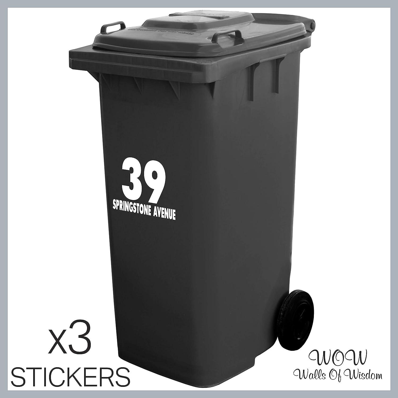 1X Wheelie Bin Number Sticker