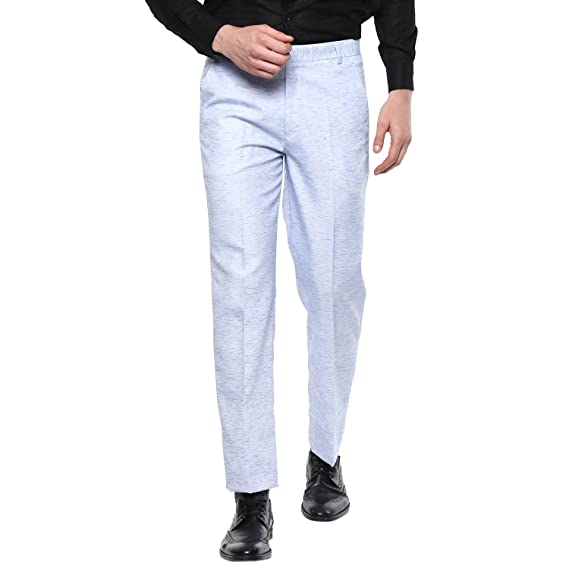 dc32b13ce3d SHAURYA-F Regular Fit Men s Grey Trousers  Amazon.in  Clothing   Accessories