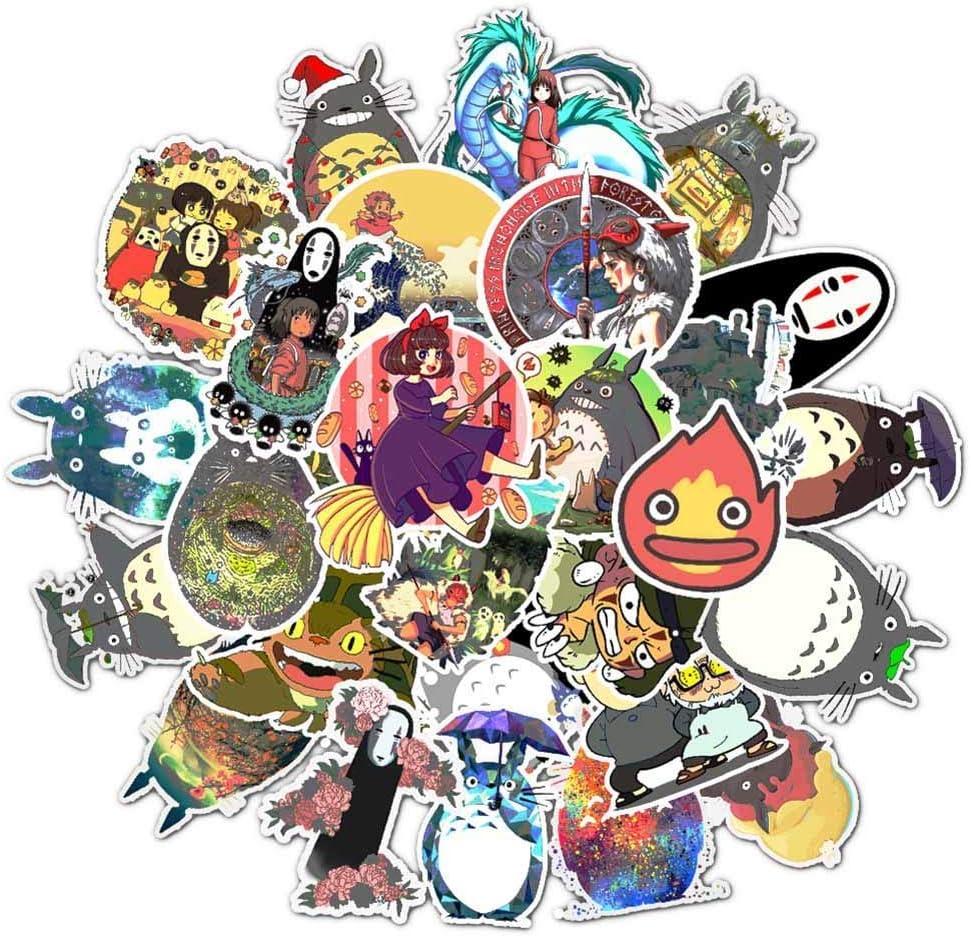 Car-tobby 50 Miyazaki Anime Pegatinas mi Vecino Totoro sin Cara Hombre el Viaje de Chihiro Lejos Sunlight Graffiti Pegatina Carrito Estuche Maleta Guitarra Pegatina