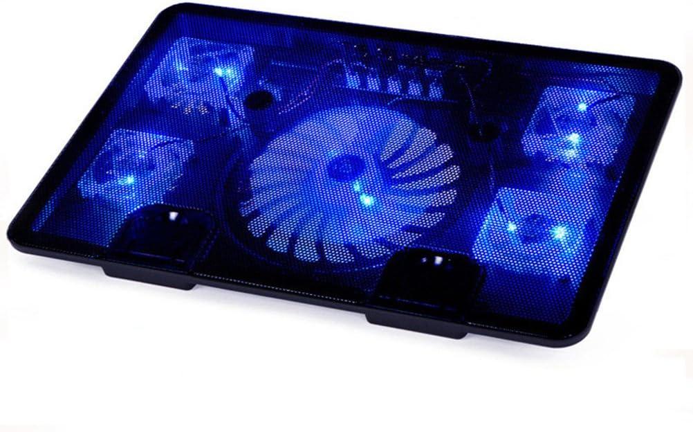 Ledmomo Pad di raffreddamento per 14/ /39,6/cm portatile Cooler Pad Chill Mat con 5/ventole silenziose Strong velocit/à del vento per giocare e ufficio nero