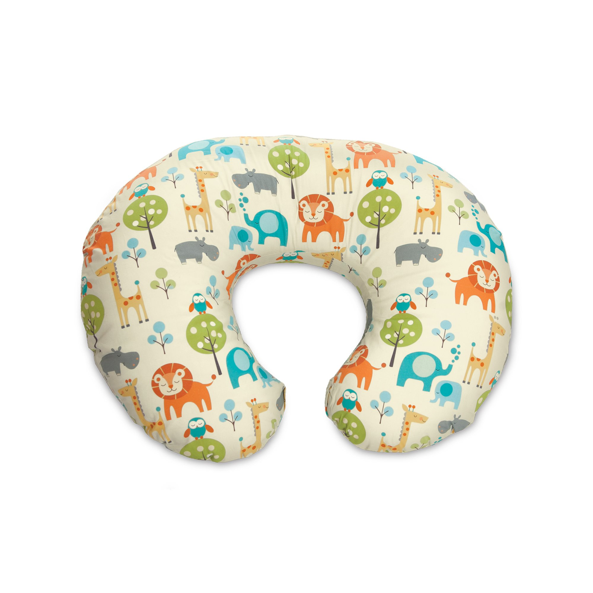 Boppy Original Nursing Pillow and Positioner, Peaceful Jungle, Cotton Blend Fabric with allover fashion by Boppy