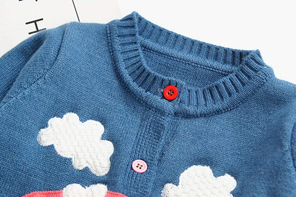 CSSD Affordable Newest Baby Girls Winter Cute Sweater Kids Long Sleeve Knitted Button Sweater Cardigan Clothes