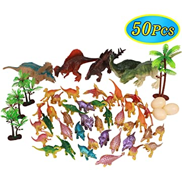 Conomus Birthday Party Favors- Carnival prizes for Kids,50PCS Mini Dinosaur Toy Assortment for Classroom …