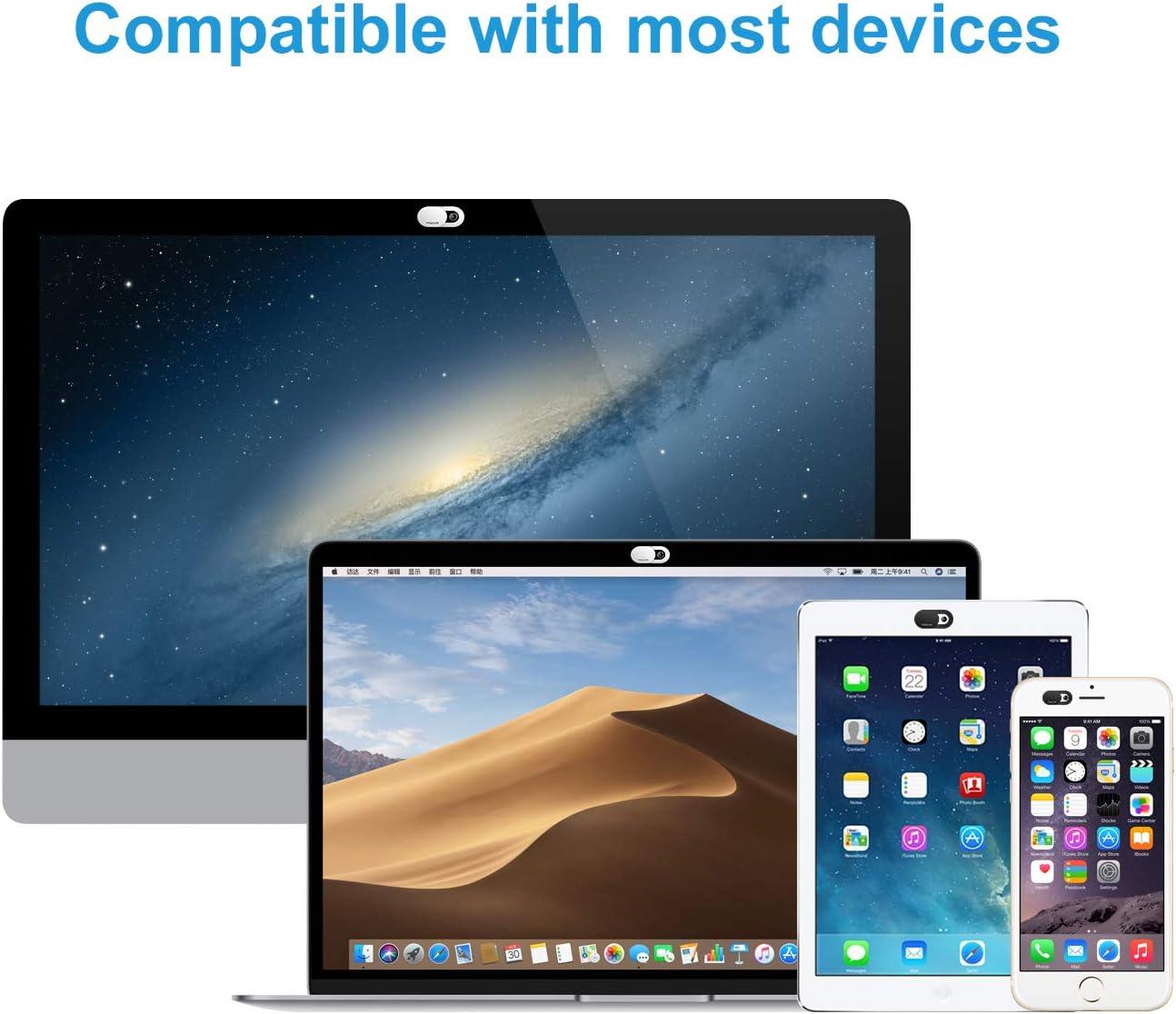 0,027 Pollici Slider Cover Camera Shield Lens Blocker Shell Sticker Compatibile con MacBook//iPad//iMac//Tablet//Notebook Ultra Sottile Security Protector 2 Pezzi MOSISO Webcam Copertura Copri