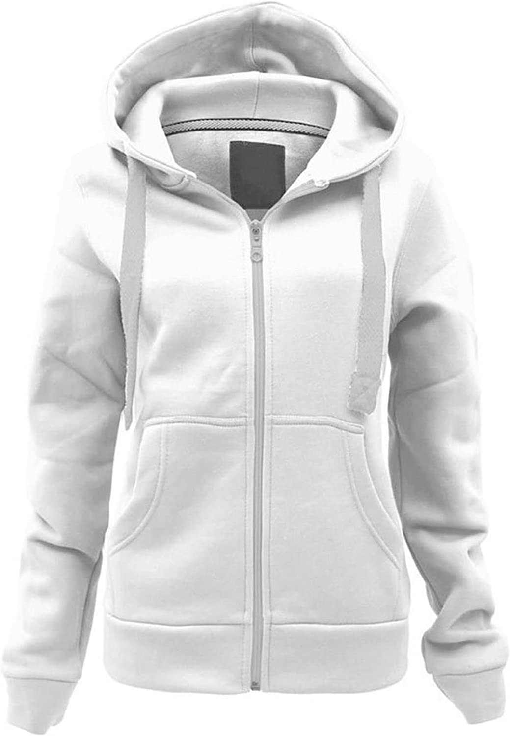 Womens Ladies Plain Classic Lady-Fit Hooded Sweat Hoody Hoodie 16 Colours