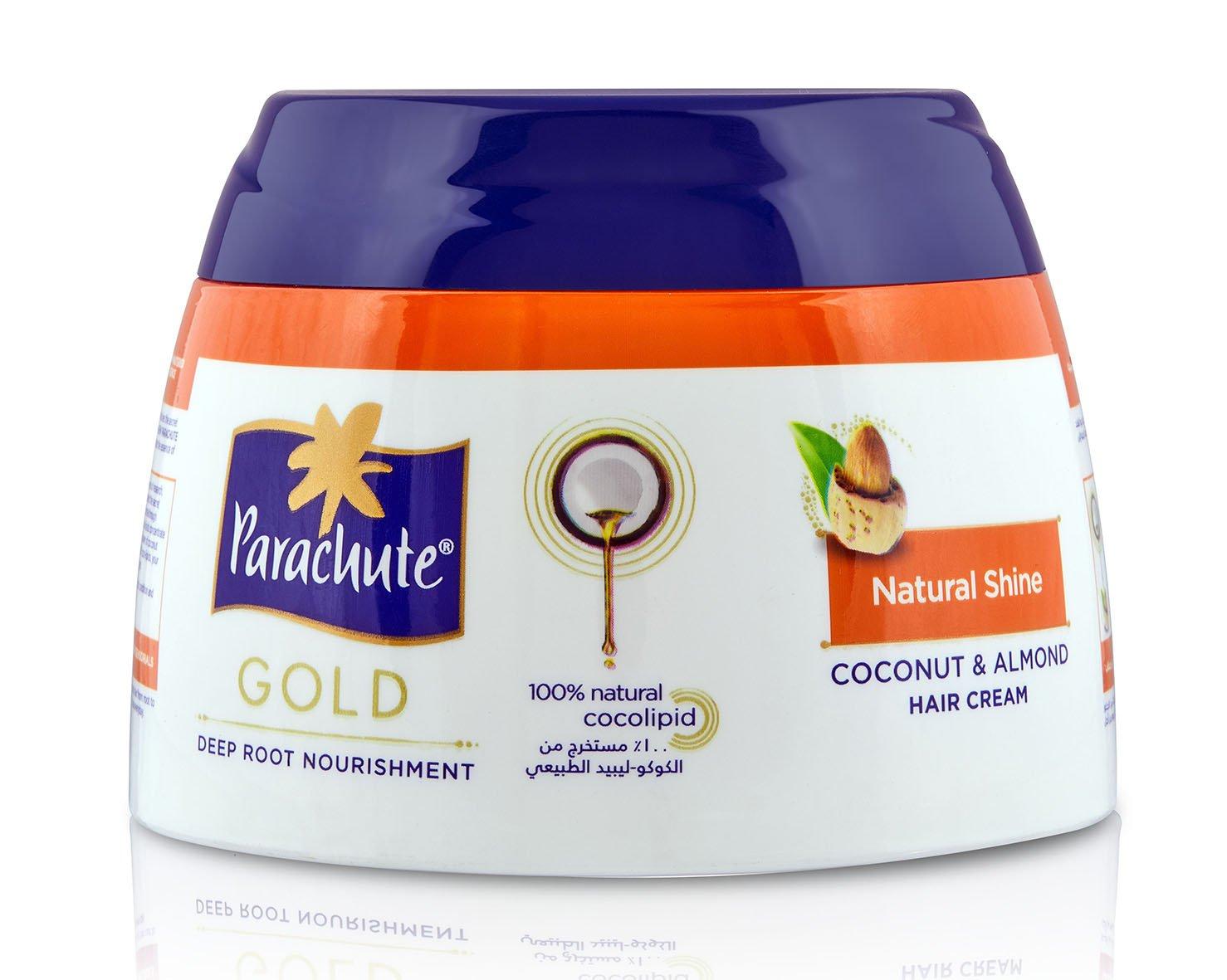 317f2cde52ca Amazon.com   Parachute Gold Hair Cream Natural Shine - 4.7 fl.oz. (140ml) -  Contains Almond And Coconut   Beauty