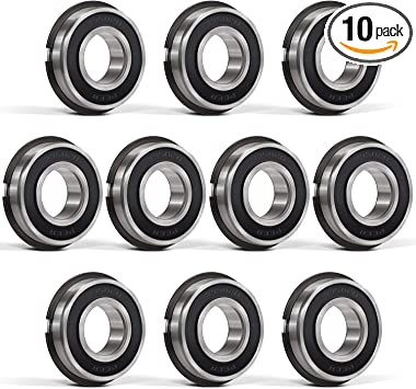 Stable Performance and Cost-Effective. Replacement for Go Kart XiKe 10 Pack 99502HNR Wheel Hub Ball Bearing ID 5//8 x OD 1-3//8 x Width 7//16 Double Seal and Snap Ring Mini Bikes and Lawn Mowe Etc