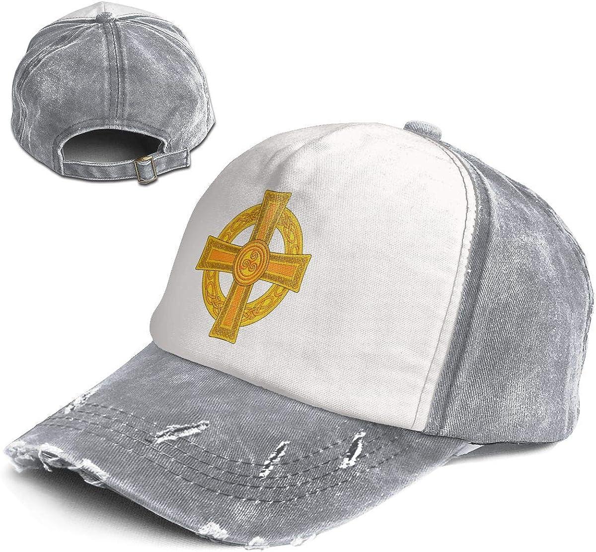 Fashion Vintage Hat Celtic Cross Ancient Celtic Symbols Adjustable Dad Hat Baseball Cowboy Cap