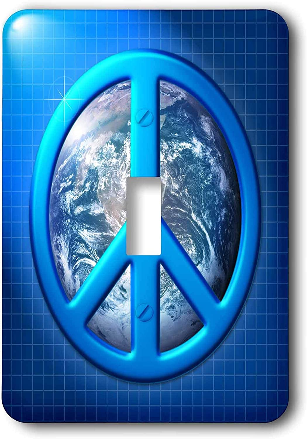 3drose Lsp 18146 1 Large Blue Peace Sign Over The Planet Earth Single Toggle Switch Switch And Outlet Plates Amazon Com