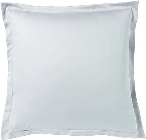 ESSIX 3359103031792 Funda de Almohada Cuadrada satén de algodón Canto 64 x 64 cm: Amazon.es: Hogar