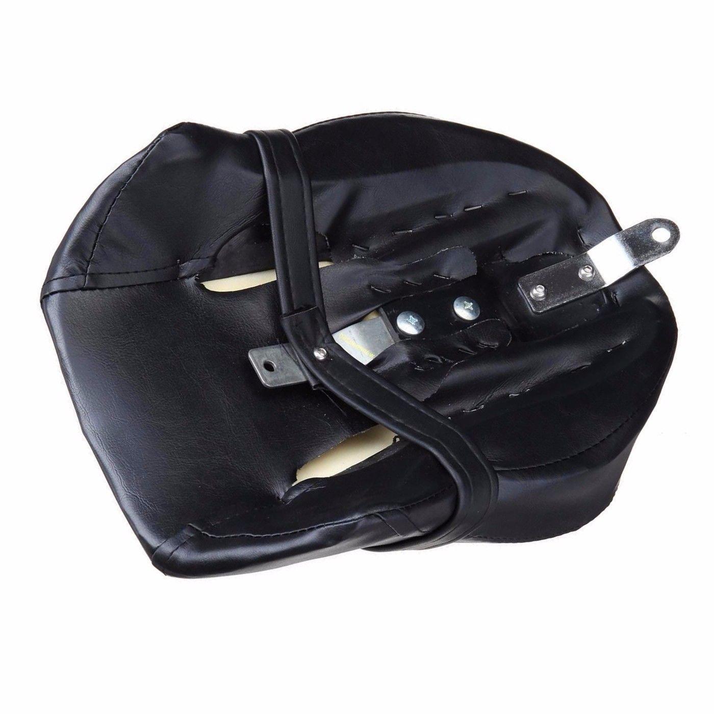 Black Rear Seat Passenger Pillion For Harley Sportster 1200 883 XL883N XL1200L
