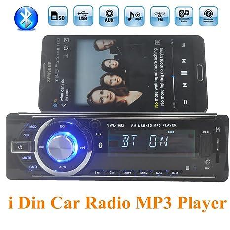 amazon com eaglerich car radio bluetooth mp3 fm usb 1 din remoteimage unavailable image not available for color eaglerich car radio bluetooth