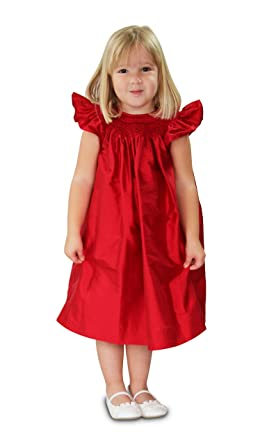 Amazon Com Strasburg Children Red Flower Girl Dress For Toddler