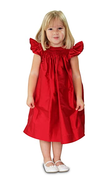 Amazon Com Red Christmas Dress For Toddler Girls Smocked Holiday
