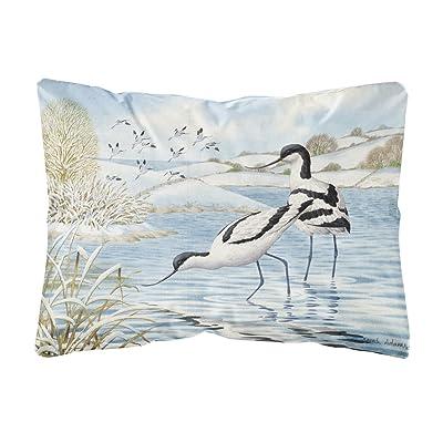 Caroline's Treasures ASA2190PW1216 Avocet Fabric Decorative Pillow, 12H x16W, Multicolor : Garden & Outdoor