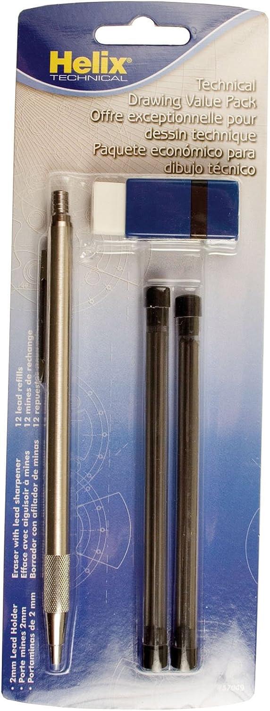 Mates portaminas 1,3/mm plomo de repuesto 12/minas