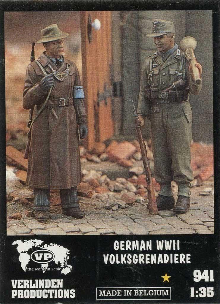 Verlinden 1 : 35 WWII German volksgrenadiere – 2樹脂Figuresキット# 941 B0776VXJ2K