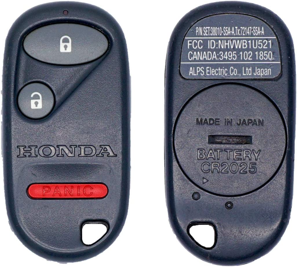 NHVWB1U521 or NHVWB1U523 - interchangeable OEM Honda 2001 2002 2003 Civic Ex remote fob P//N 72147-S5A-A01 H//C 6457170
