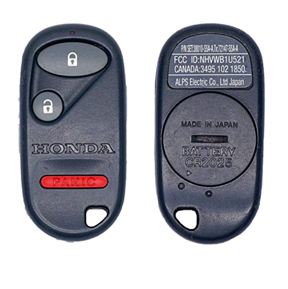 OEM Honda 2001 2002 2003 Civic Ex remote fob (NHVWB1U521 or NHVWB1U523 - interchangeable)