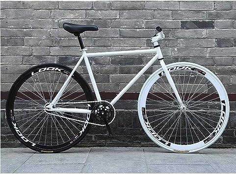 MJY Bicicleta de carretera, bicicletas de 26 pulgadas, sistema de freno de marcha atrás, cuadro de acero de alto carbono, carreras de bicicletas de carretera, hombres y mujeres adultos 6-11,UNA: Amazon.es: Bricolaje