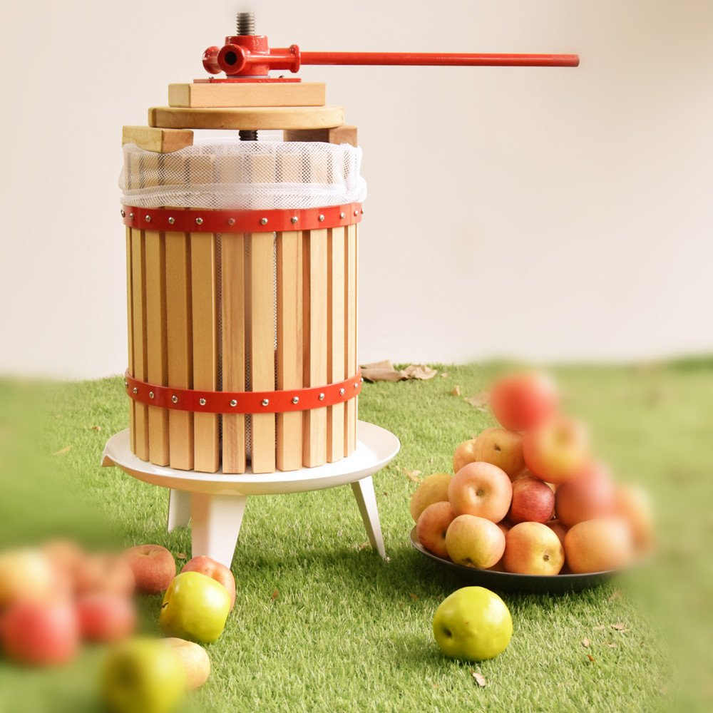 Fruit Wine Press 3.2 Gallon Solid Wood Basket Cider Press by EJWOX (Image #2)