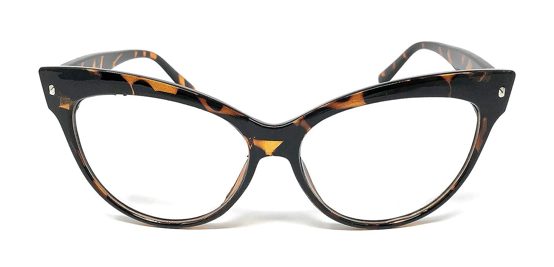333d3943f5ca Amazon.com: Cateye or High Pointed Eyeglasses or Sunglasses Vintage  Inspired Fashion (Fashion Cut Away Black): Clothing