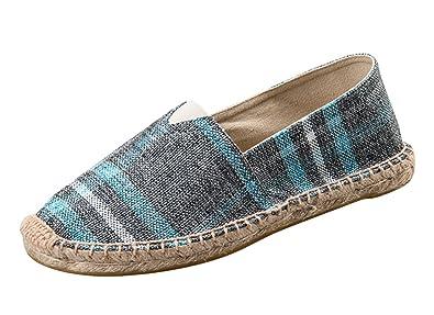 Insun Alpargatas Unisex Adulto Ocasionales Antideslizante Loafer Lona Vamp  Artesanal Suela Cuerda de Yute  Amazon.es  Zapatos y complementos b8695df2d40