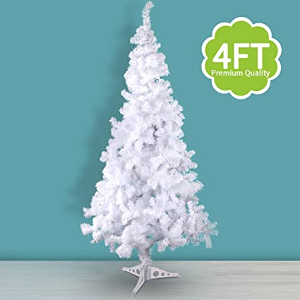 jaxpety white 4ft artificial pvc christmas tree wstand holiday season indoor outdoor - Amazon Christmas Tree Stand
