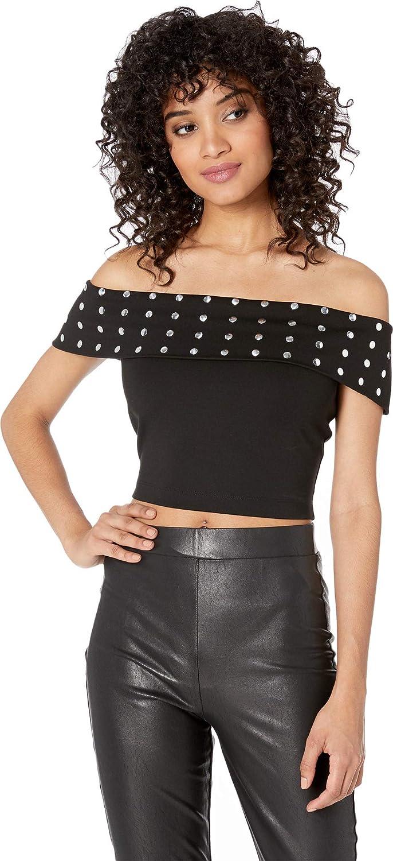 47ed082f5c2 bebe Women's Off Shoulder Crop Top at Amazon Women's Clothing store:
