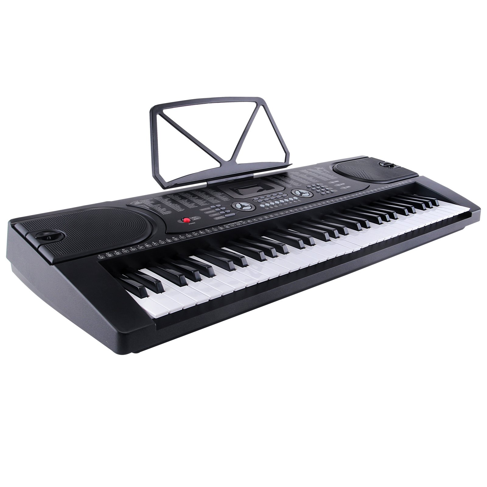 LAGRIMA Electric Piano Keyboard 61 key Keyboard Music Piano Portable Electronic Digital paino with Microphone (Black)